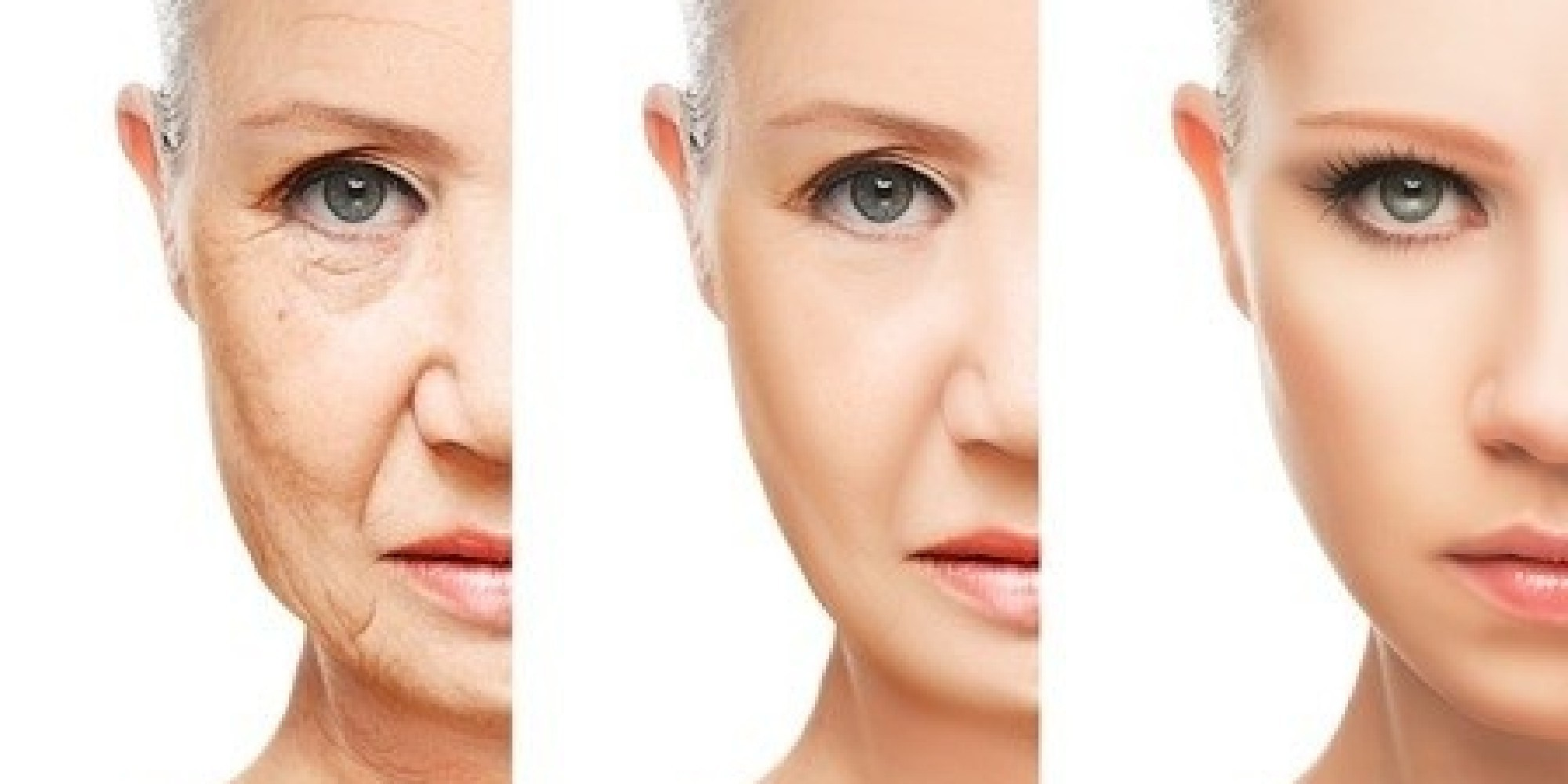 aging woman face
