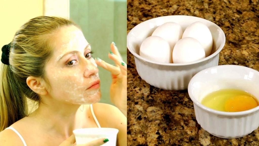 egg white mask to finish double chin
