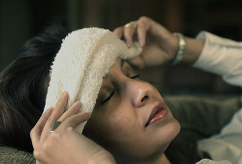 hot water towel cures headache